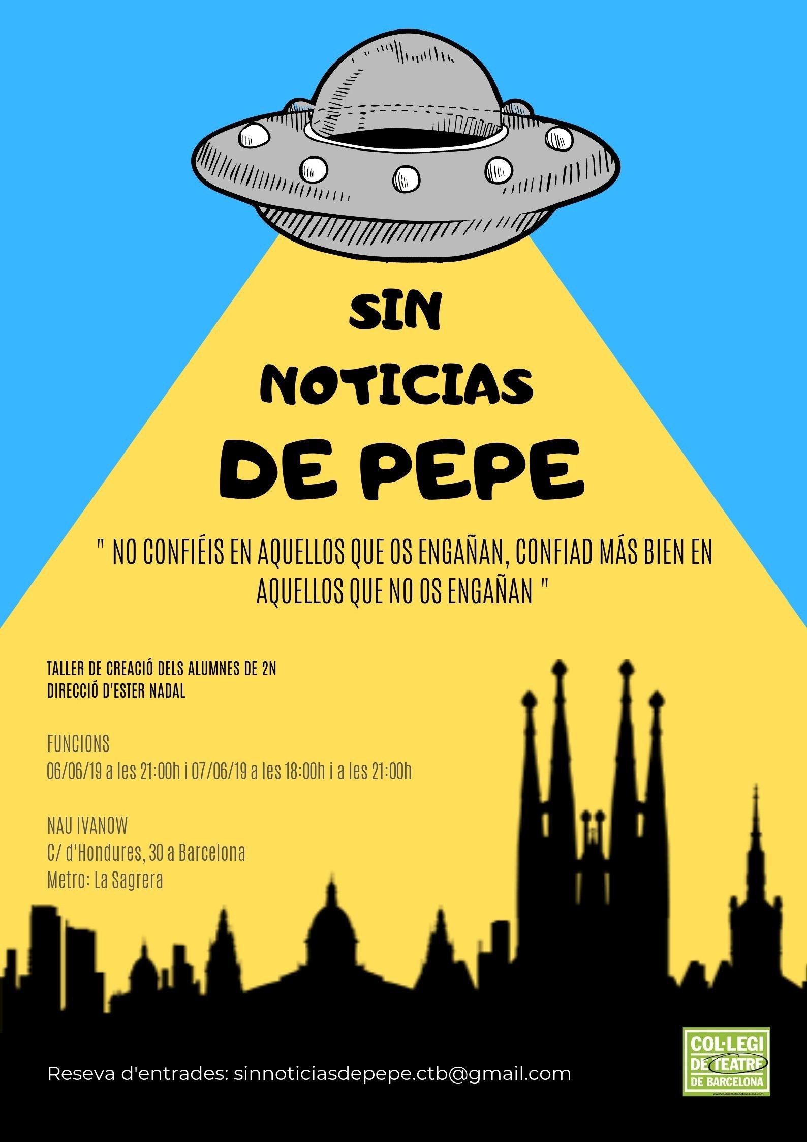 Poster - Sin noticias de pepe - Alberto Amayuelas