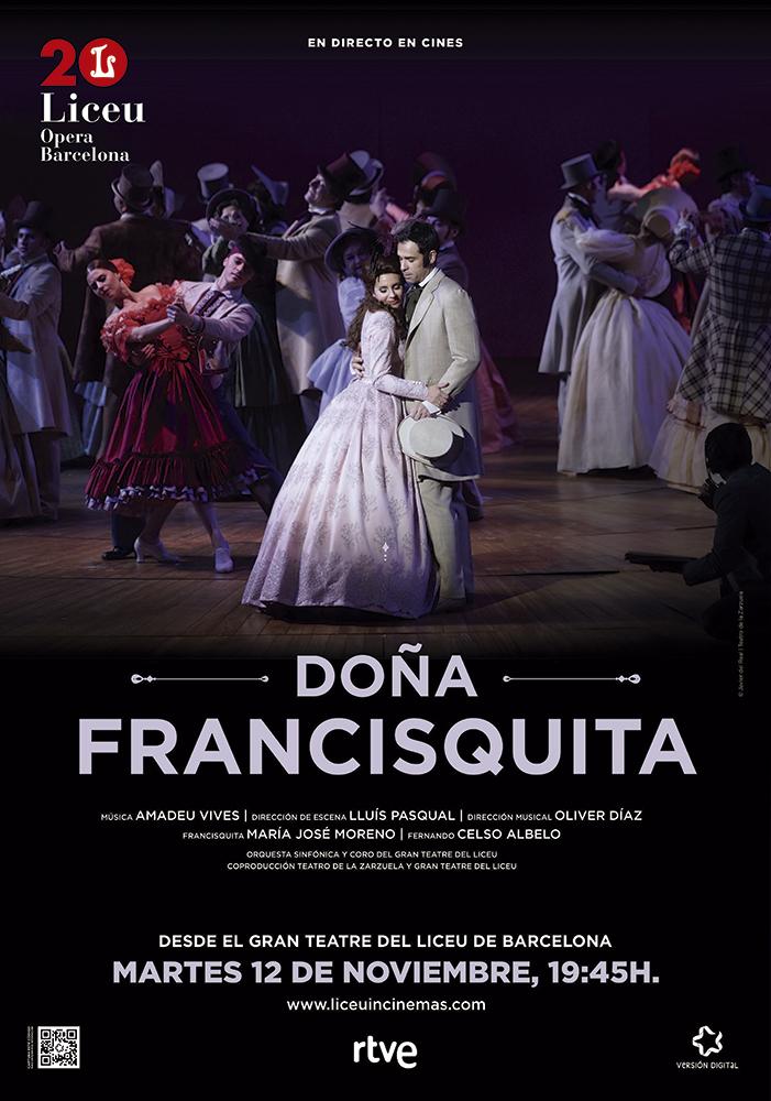 Cartel Cines Doña Francisquita - Alberto Amayuelas