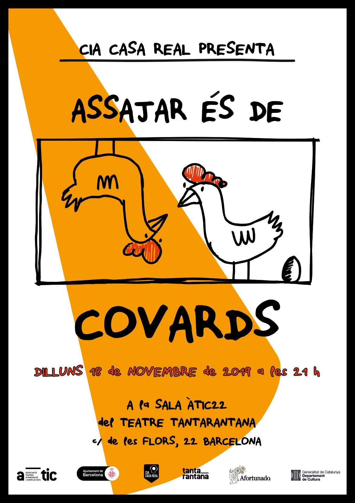 Poster Assajar es de covards Novembre - Alberto Amayuelas